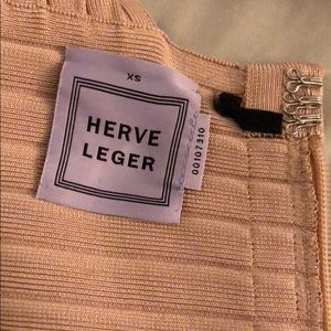 Herve Leger sand bandaid dress USED